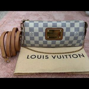 Louis Vuitton Damier Azur Pochette Eva Crossbody